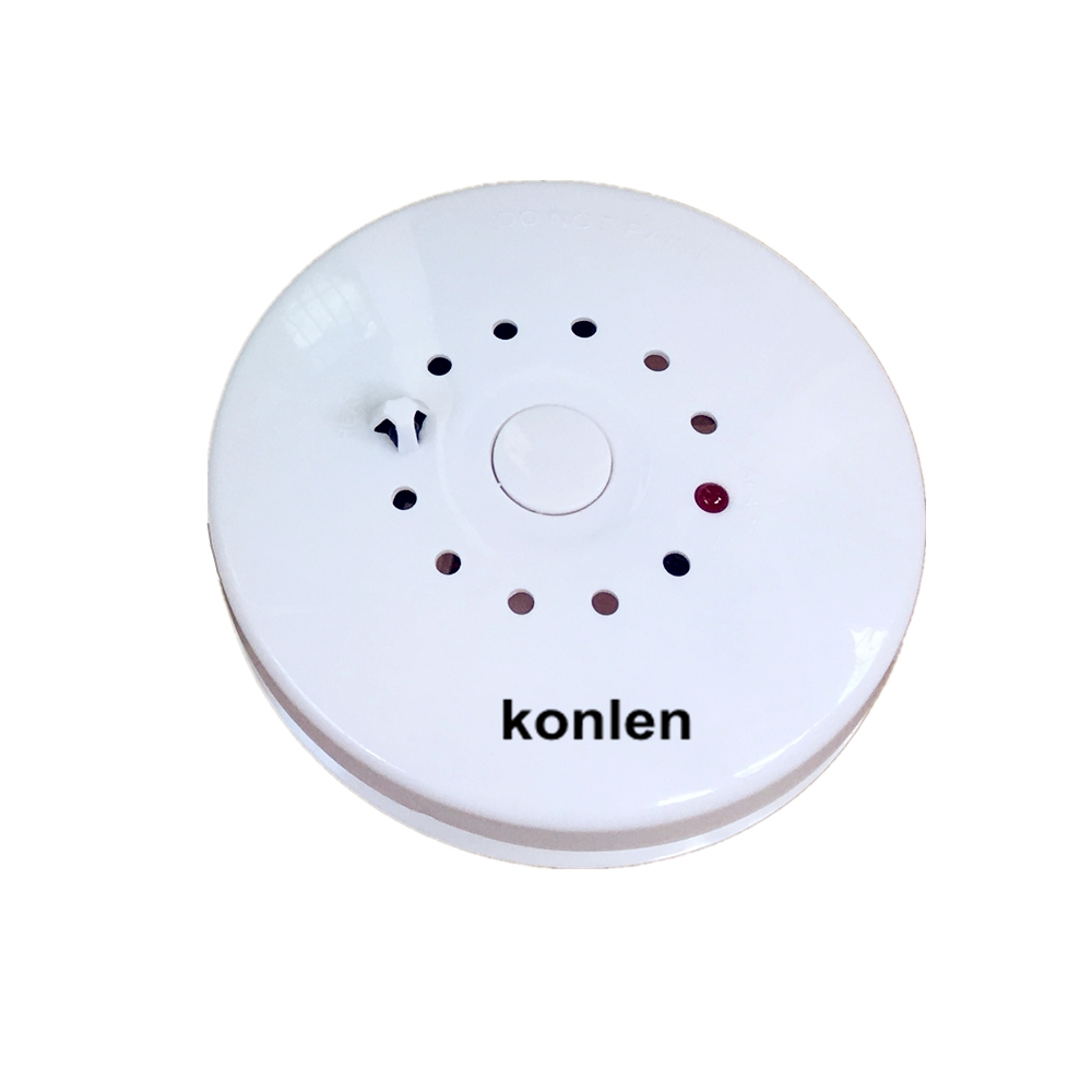 Smoke and Heat Detector 2 in 1 Combined for Fire Temperature Detection Alarm or Wired with Alarm Systems Security Home.