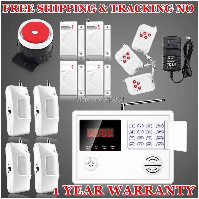 New 120 defense Zones Wireless Home Security Burglar Door Alarm System Auto Dialing remote control arm/disarm LCD Display Clock<br><br>Aliexpress