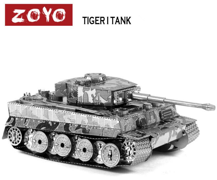 New Arrival (1 iece/lot) Metal Works DIY 3D Laser Models / Assemble Miniature Metal 3D Model,Metallic Nano Puzzle-Tiger I Tank(China (Mainland))