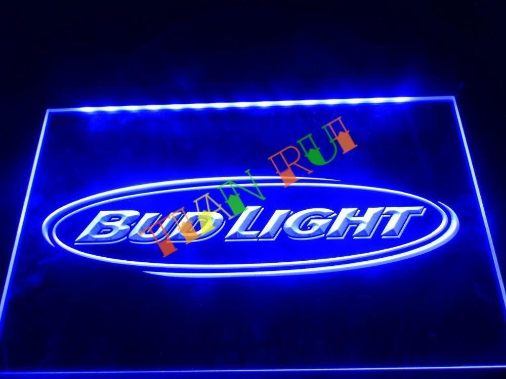 LA001- Bud Light Beer Bar Pub Club NR LED Neon Light Sign(China (Mainland))