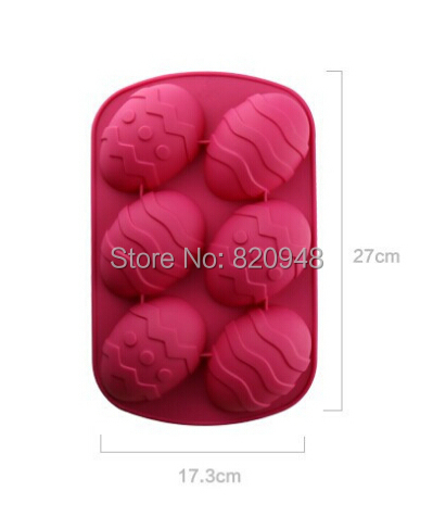 10 pc 130G 27x17.3CM Colorful Easter Egg Silicone Mold Mould Decorating Fondant Tool Sugarcraft