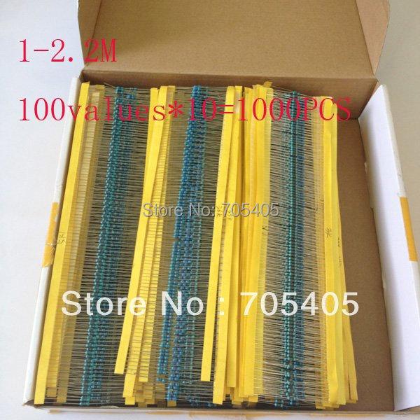 122values,1/4W,10 for each,total 1220PCS,resistor pack,resistor kit