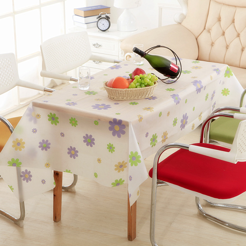 Tablecloth On The Table High Quality Fashion Peva Matte Transparent Waterproof Dustproof Easy Cleaning Linoleum Anti Dust Cover(China (Mainland))