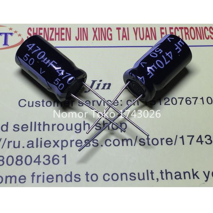Pengiriman gratis 50 pcs/lot 50 V 470 UF 10*17 10mmX17mm Aluminum electrolytic capacitor ic(China (Mainland))