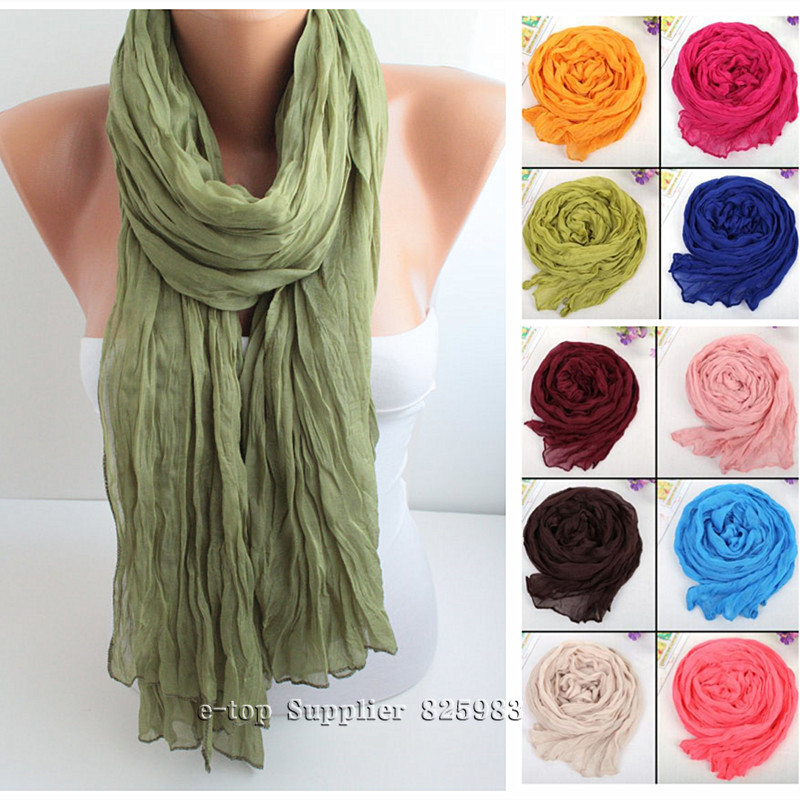 Wholesale Free Shipping 25pcs/lot Classic Fashion Voile Scarves Long Pashmina Infinity Scarf Shawls Cachecol Women A3613(China (Mainland))