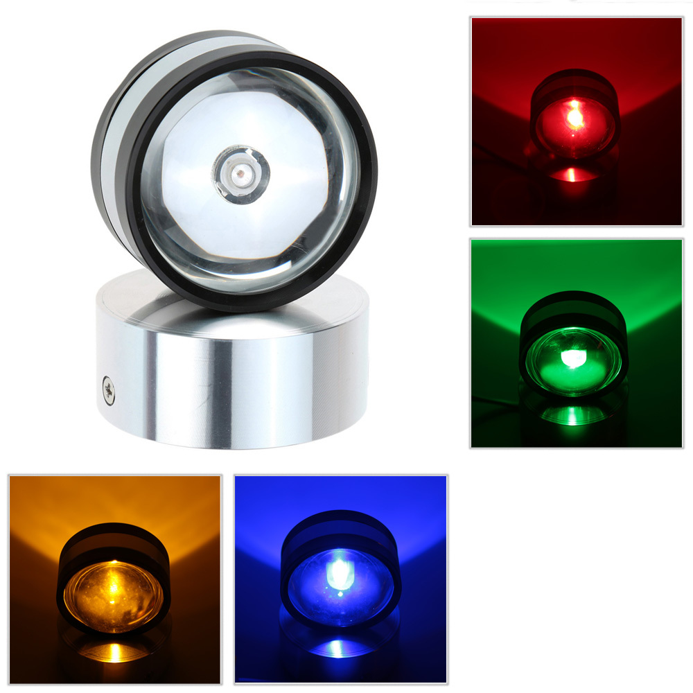 2W AC85 265V Red/Green/Blue/Yellow Wall Lamps For Indoor Bedroom Hallway Kitchen Crystal Ball ...