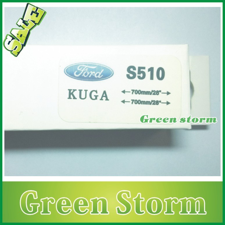 (2pcs/Pair) car wiper blades(windscreen wiper) FORD KUGA soft silicone Rubber WindShield Wiper Blade - Green Storm Automobile Products co., LTD store