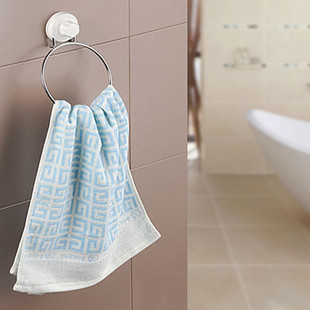 Shuangqing Strong Suction Cup Towel Ring Bathroom Towel Hanging Wall Towel Rack