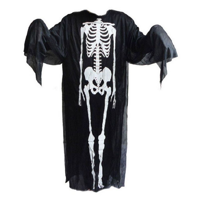 2015 Skeleton Ghost Clothes Halloween Cosplay Dress Costume Masquerade Supplies Kids And Adult Clothes IL1800030(China (Mainland))