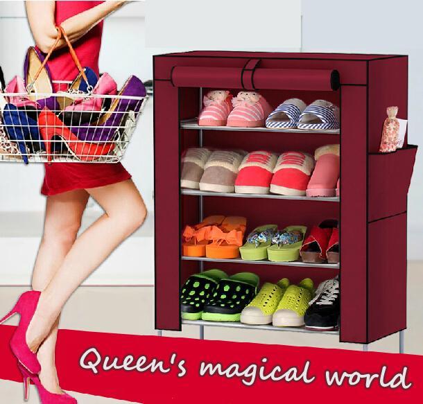 Shoe racks Non-woven fabrics furniture Shoe cabinet shoe storage mueble zapatero shelf for shoes(China (Mainland))