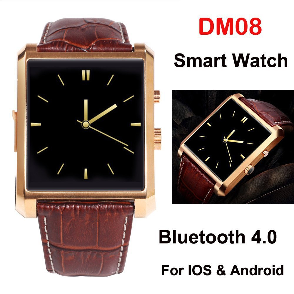 New Arrive smart watch for Android Iphone DM08 watches men Sync whatsapp facebook Pedometer Camera mp3 Player Anti Lost relogios(China (Mainland))
