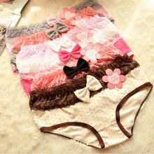 Sexy Womens Lace Bow-knot Briefs Polka Dots Underwear Panties Knickers Lingerie fashion