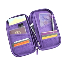 5 colours fashion Travel set nylon man brand ID passport holder credit card organizer bag women long travel wallet(China (Mainland))