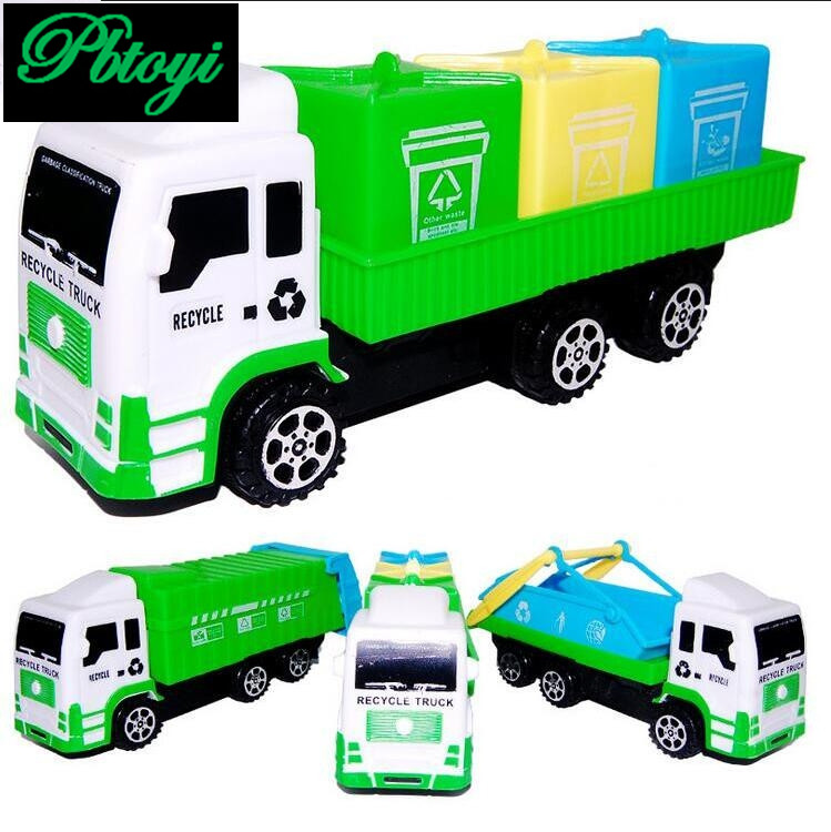NEW 16*7*6.1cm scania truck garbage truck eco friendly car transport vehicle model toy as gift for boy children TN819(China (Mainland))