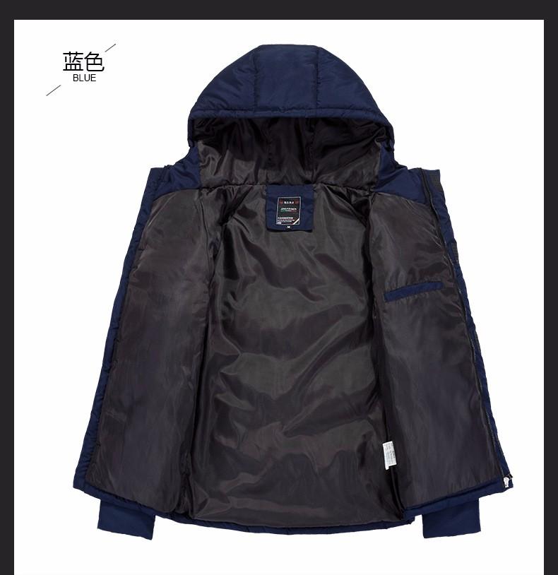 Скидки на Зимние Куртки Пальто Для Мужчин 2016 Новый Тонкий Капюшоном Вниз хлопок Мягкий Пальто Парки Толстый Черный Теплый Случайный Мужчина Куртка верхняя одежда