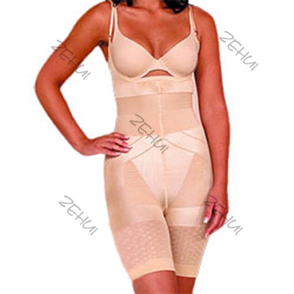 Women Full Body Shaper Breast Care Burn Fat Spanx Shapewear Tummy Slim Bodysuit(China (Mainland))