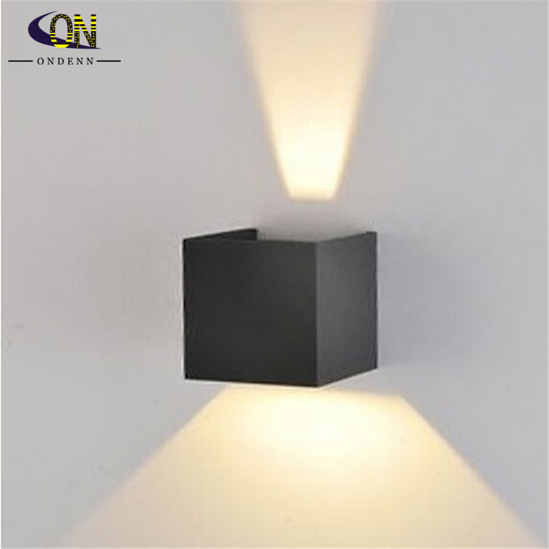 Contemporary Outside Wall Lamps : 6W Led Wall Lamps LED Outdoor Wall Sconce Waterproof Modern 2pcs/lot Warm White 2COB Led Chips ...