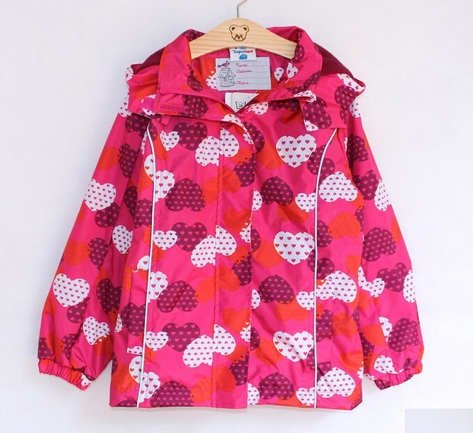 2014 Retail wind and rain in spring and autumn topolino girls trench coat jacket free shipping(China (Mainland))