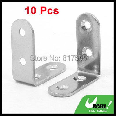 Гаджет  40mm x 40mm x 17mm Stainless Steel 90 Degree Angle Bracket 10 Pcs None Мебель