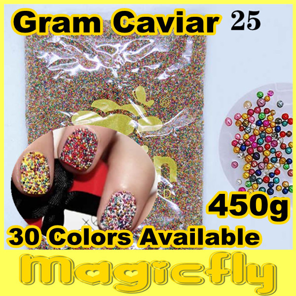 [LYZJ-0016]450 Gram Caviar Nail Art Beads Tiny Circle Balls Decoration 3D Nail Art Caviar Nail Art+Free Shipping