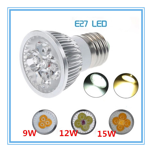 Dimmer E27 LED Light Bulb 9W 12W 15W E27 LED Spot Light Bulb Lamp White/Warm White Bulb lamp(China (Mainland))