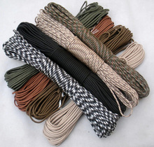 159 colors Wholesale Woodland camo Parachute Cord Paracord 550 7 core Strand 100FT camping tent rope