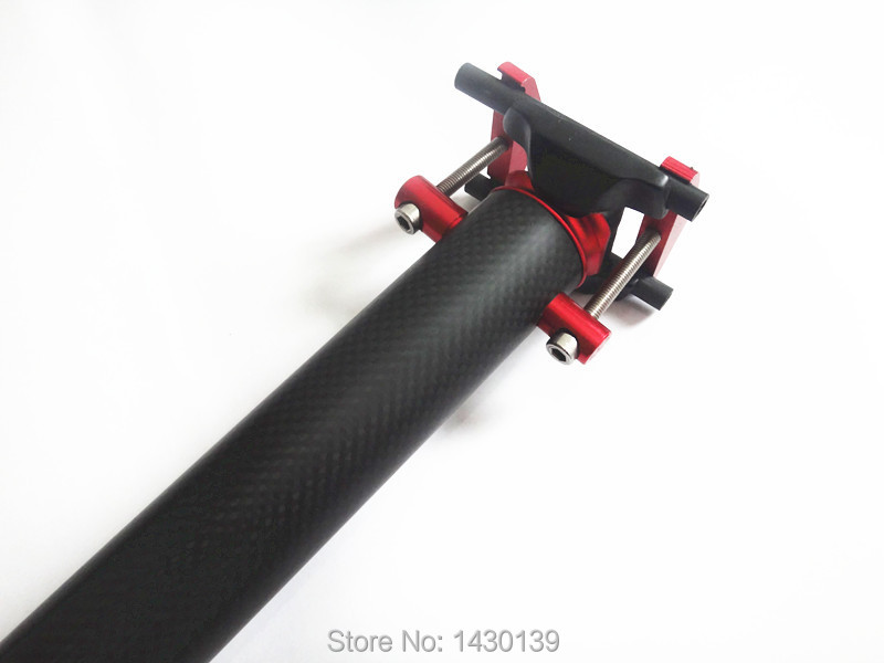 New red Mountain bike 3K full carbon seatposts Road carbon bicycle seatpost use for Folding bike long 33.9*580mm Free shipping(China (Mainland))