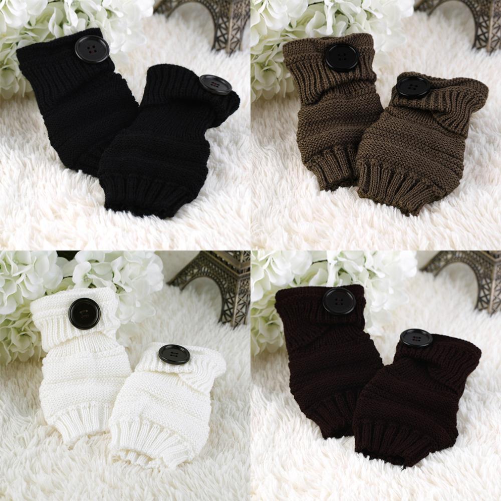 Spring Winter Women Wool Arm Warmers Winter Fashion Fingerless Gloves button Knitted Mitten Lengthen Half-finger Gloves Одежда и ак�е��уары<br><br><br>Aliexpress