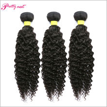 6A Grade Unprocessed Brazilian Curly Virgin Hair 3 Bundles Pretty Meet 100g Curly Weave Human Hair Extensions Natural Black