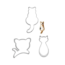 3pcs Cat Cookie Mold Set