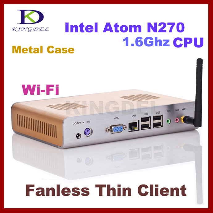 KINGDEL Thin Client, PC Station, PC Terminal with Intel Atom N270 1.60Ghz, 32 Bit, WIFI, HDMI support Windows XP, 3D games(Hong Kong)