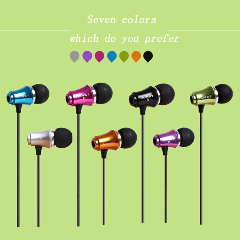 Free shipping,New fashion Headphones,3.5mm Plug Wired Metal in-ear earphone,Waterproof Anti-noise music mp3 Headset, -NR02(China (Mainland))