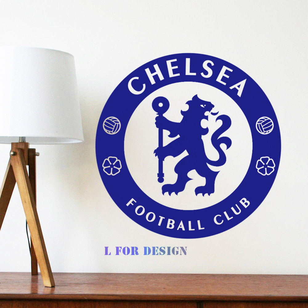 Removable Wall Decal Decoration Chelsea Football Club Logo Bedroom Wall Sticker Decor Manufacture Store Window Free Shipping(China (Mainland))