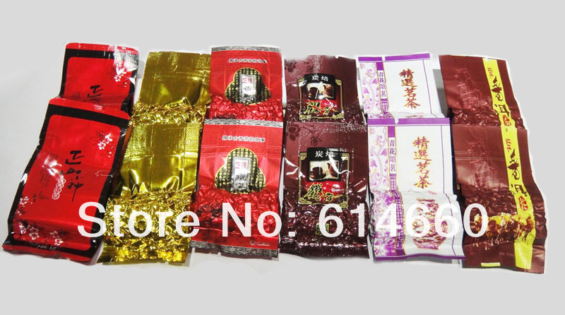 12pcs,6flavor oolong tea, different flavors Chinese tea,Tieguanyin,Ginseng oolong,Roasted oolong,puer tea,free shipping<br><br>Aliexpress