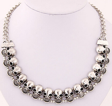 valentine's gift Korean Fashion wholesale cheap vintage  skull quality choker necklace  free shipping for $15 mini mixed order(China (Mainland))
