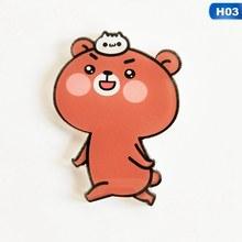 1 PC Phim Hoạt Hình Gấu Trúc Gấu Phù Hiệu Cho Quần Áo Kawaii Acrylic Phù Hiệu Biểu Tượng Trên Ba Lô Biểu Tượng Trên Các Pin Pin nữ Huy Hiệu(China)