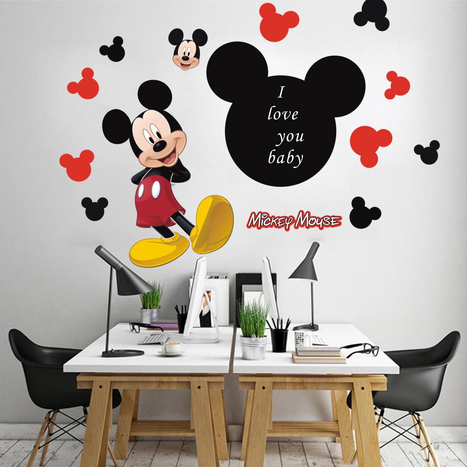 Mickey mouse chambres promotion achetez des mickey mouse for Stickers mickey chambre