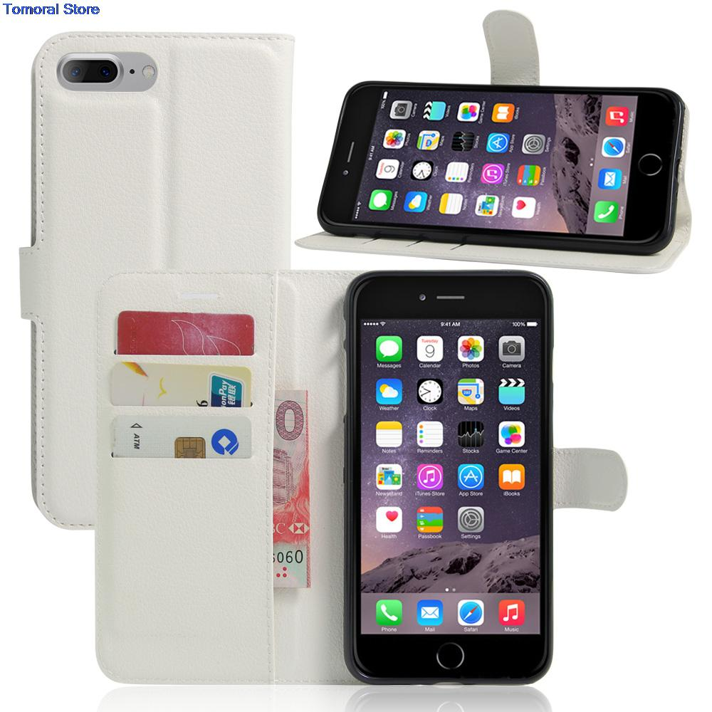 Super PU Leather Coque Carcasa For iPhone 7 Plus 7Plus Apple Flip Case Genuine Housing fundas With Back Shell Cover 100% Fit