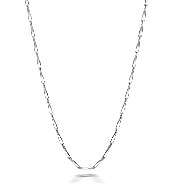 Necklace female 925 pure silver necklace pure silver melon seeds chain pure silver with chain short design chain day gift