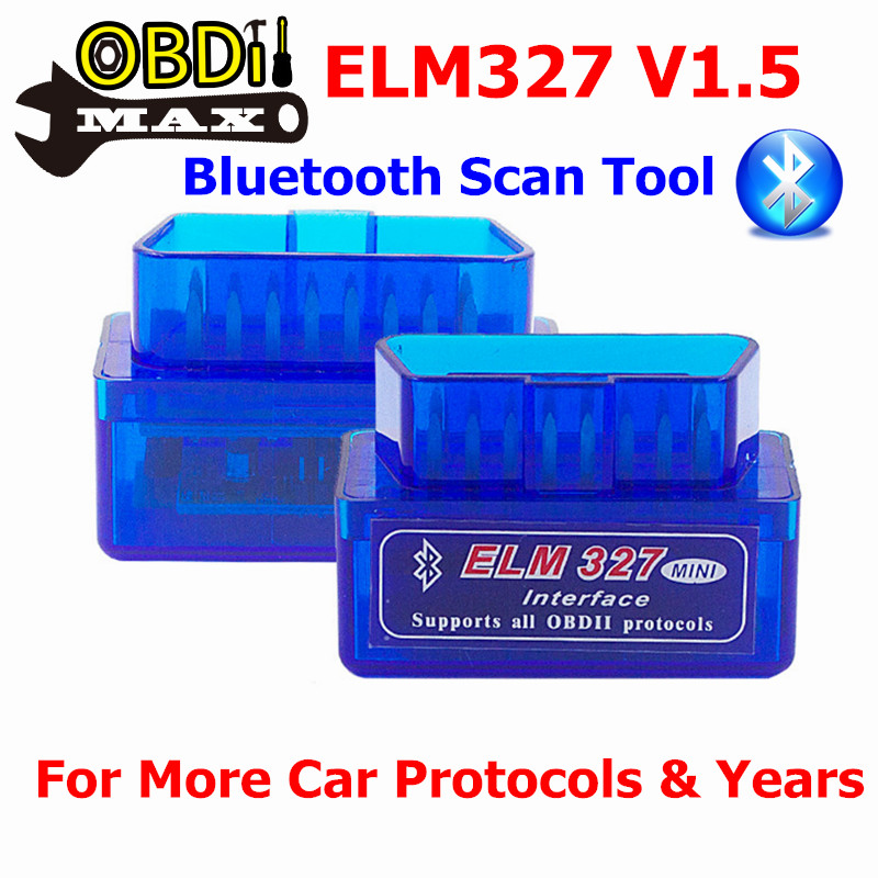100% Hardware V1.5 Super Mini ELM327 Bluetooth ELM 327 OBDII Scanner CAN-BUS Code Reader Supports More Cars Android Torque PC(China (Mainland))