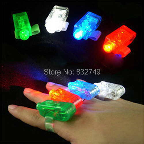 100pcs Multi-colorful LED laser Finger Ring Light Lamp Beams Torch For Party KTV Bar gift Wholesale(China (Mainland))