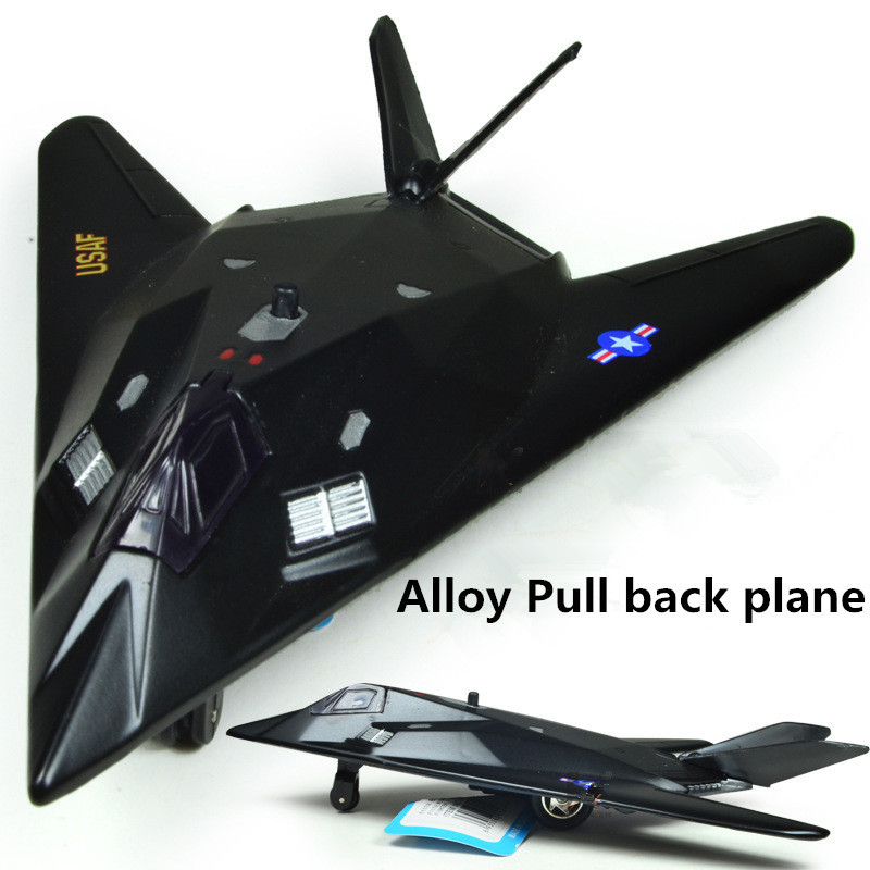 Big sale, alloy Full back Airplane model Toy Vehicles , black Diecasts Airplanes toys, free shipping(China (Mainland))