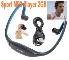 2GB Wireless Headphones Headset Sport MP3 Player Music Player(China (Mainland))