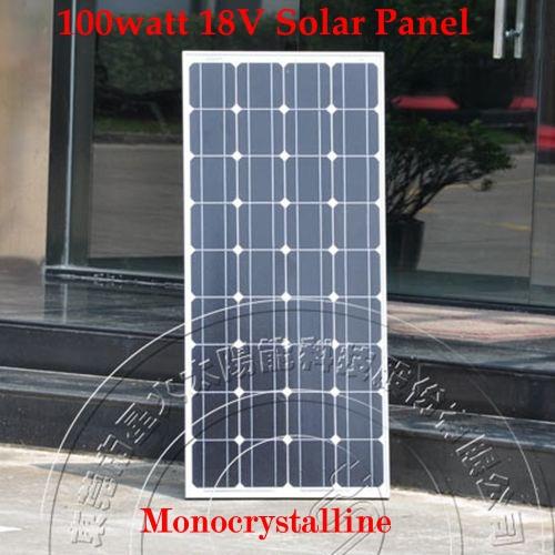 100 w 18V Monocrystal Solar Panel Charge 12V Battery - 100 watt solar panels IEC TUV(China (Mainland))