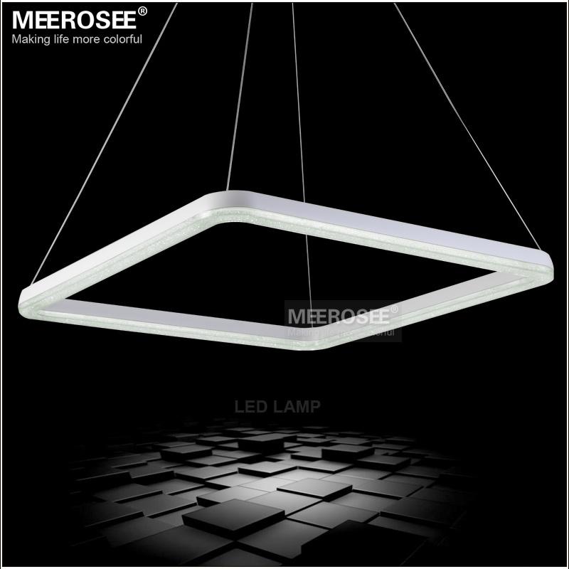 26 inch square led light fixture crystal pendant light led. Black Bedroom Furniture Sets. Home Design Ideas