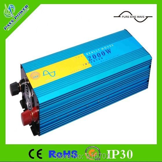 2000w inverter pure sine wave max 4000w power DC12V/24V/48V/110V to AC100V-240V 50Hz/60Hz for solar wind home use(China (Mainland))