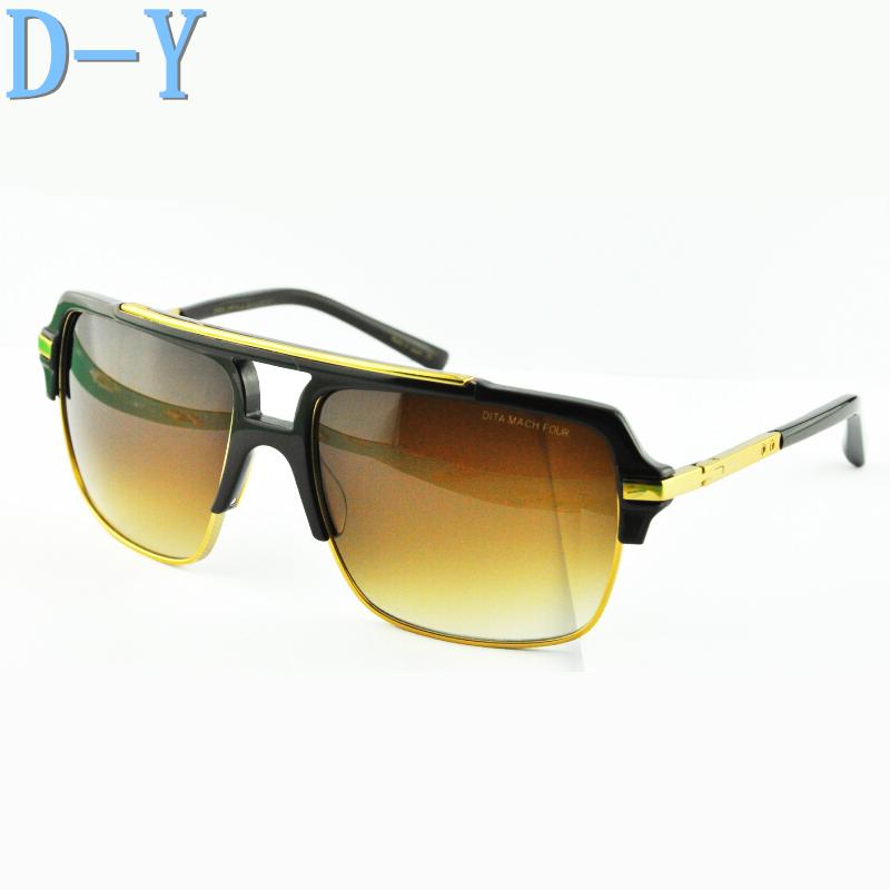 2015 NEW DITA MACH FOUR SUNGLASSES Brand Sunglasses Men Dita Mach Four Semi Metal Frame and Plate Collocation Dita Oculos De Sol(China (Mainland))