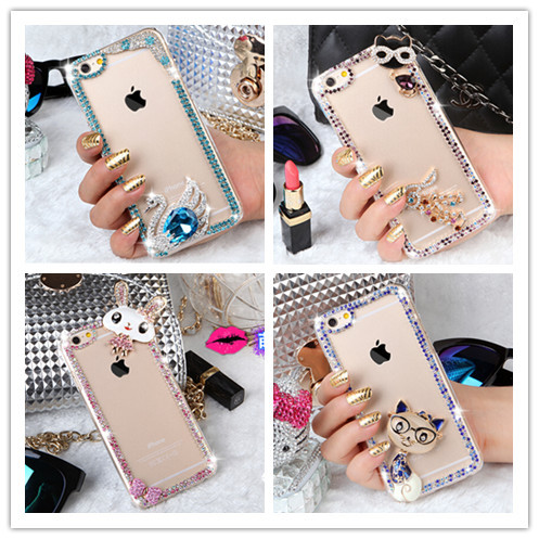 10 Style Color border ,Luxury Rhinestone Bling Case Cover For iPhone6 4.7inch Diamond Cover Phone cases(China (Mainland))