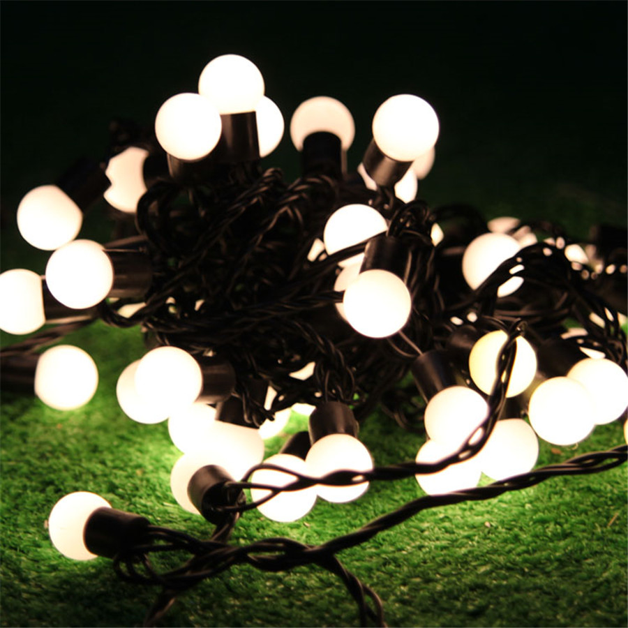 10M Led String Lights With 72pcs Ball High Waterproof IP68 Globe Fairy Christmas Led Garland For Party wedding Garden Holiday(China (Mainland))