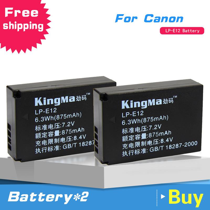 Kingma LP-E12 фотокамер LP E12 для канона EOS M M2 100D поцелуй X7 повстанцев SL1 EOSM EOSM2 EOS100D бесплатная доставка